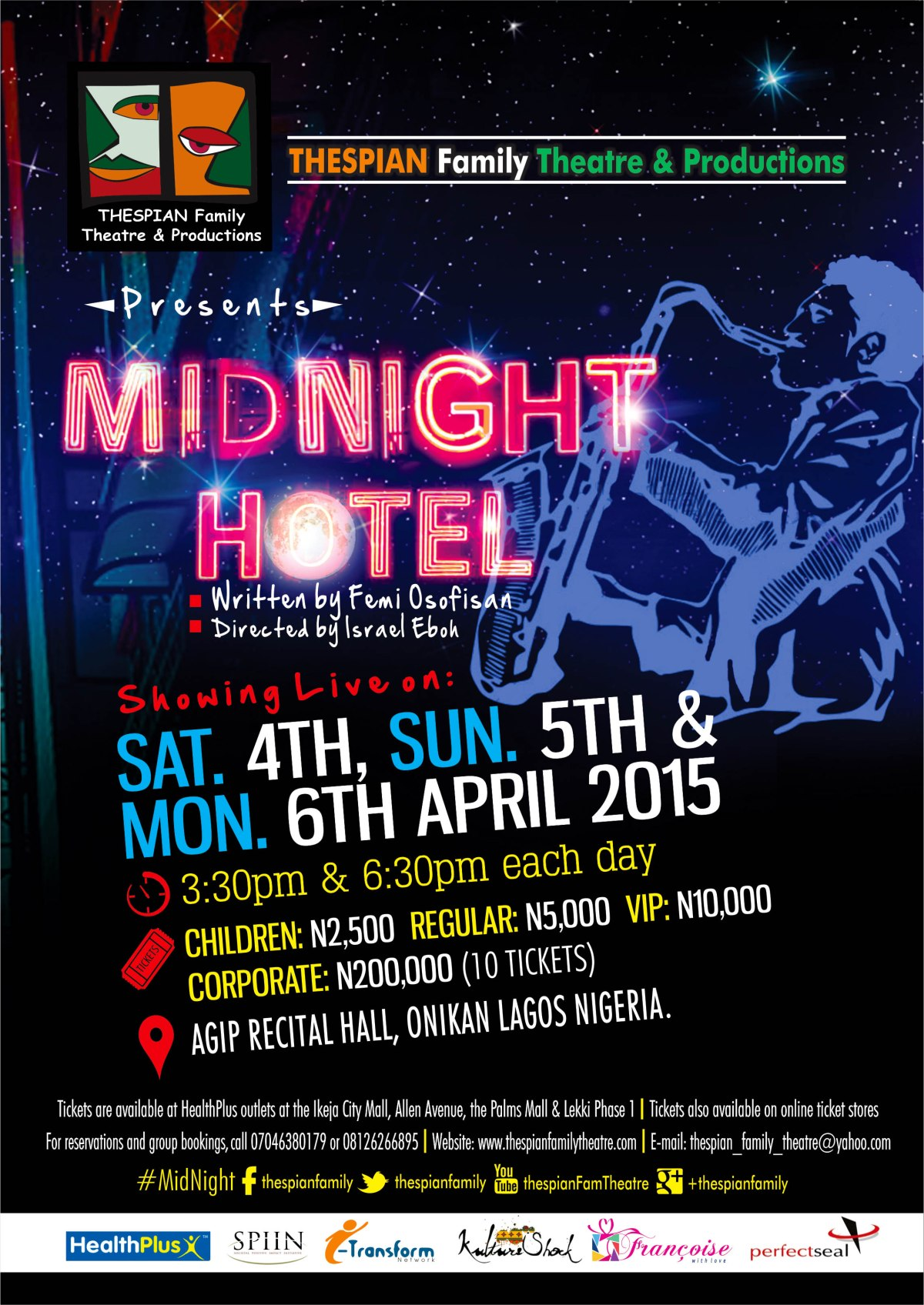 midnight hotel handbill