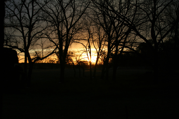 Sunrise from the Porch Copyright 2014 by R.A. Robbins